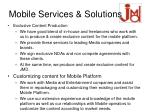 mobile services solutions