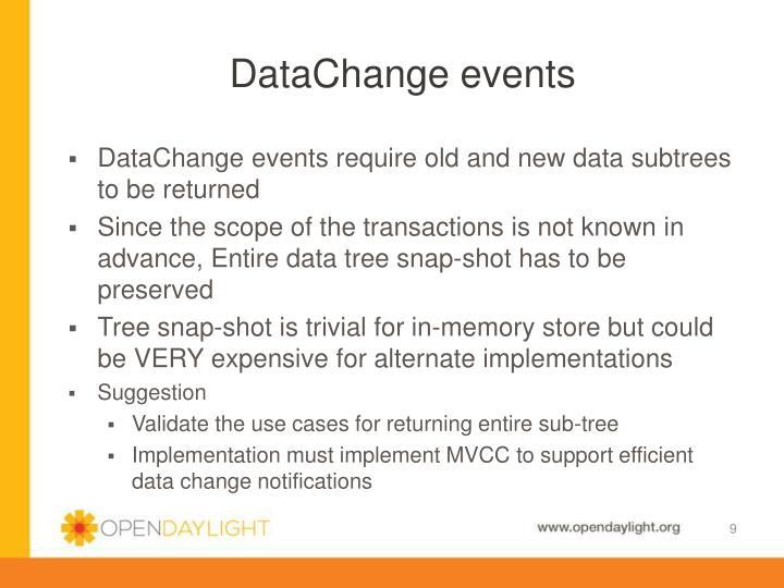 DataChange events