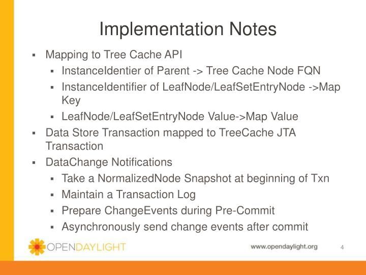 Implementation Notes