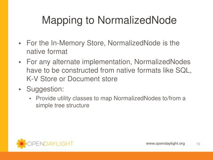 Mapping to NormalizedNode