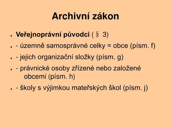 Archivní