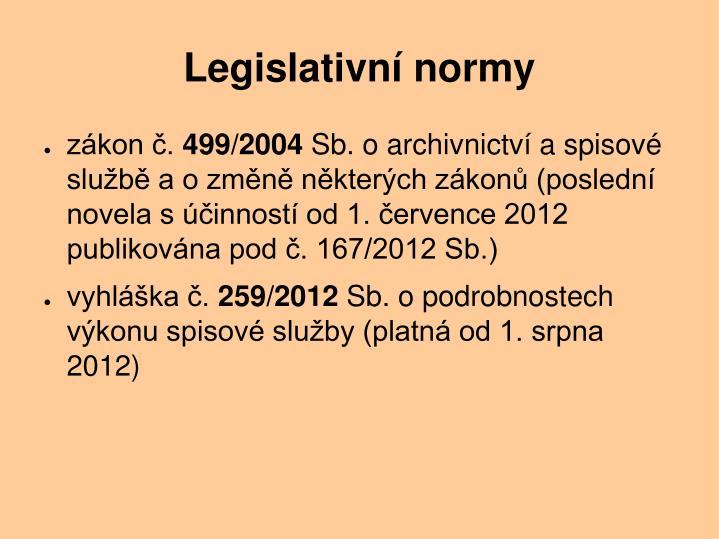 Legislativn normy