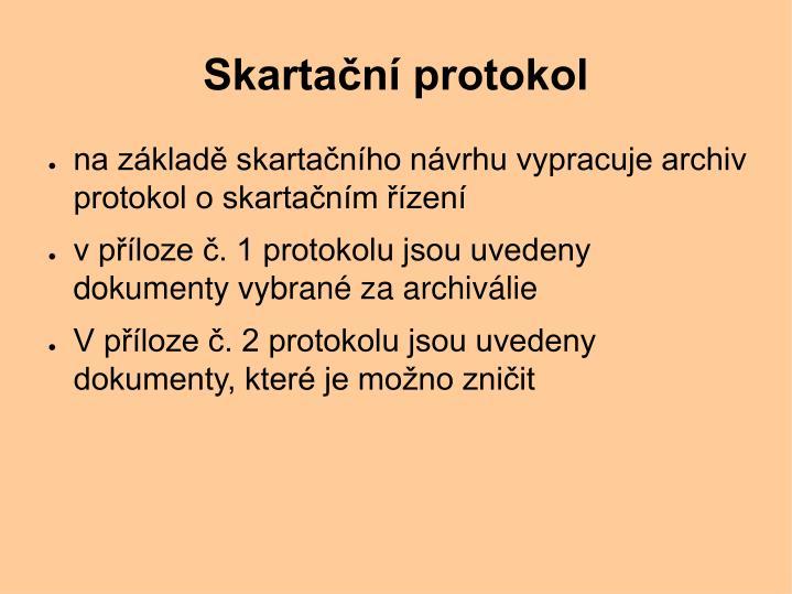 Skartační protokol