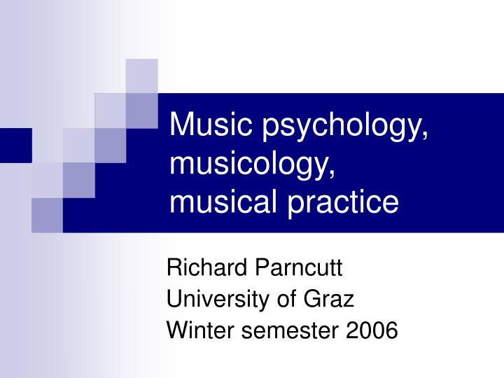 music psychology musicology musical practice n.