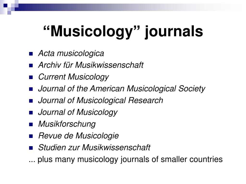 PPT - Music psychology, musicology, musical practice