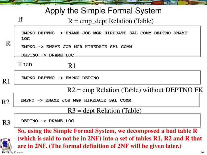 Apply the Simple Formal System
