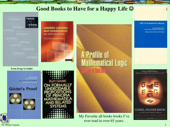 Good Books to Have for a Happy Life