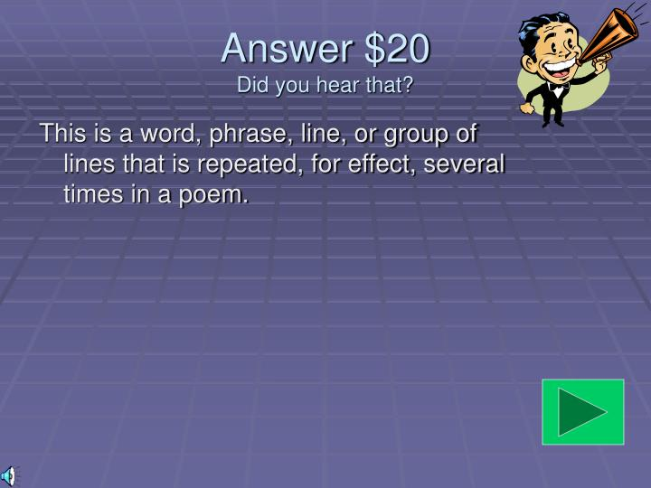 Answer $20