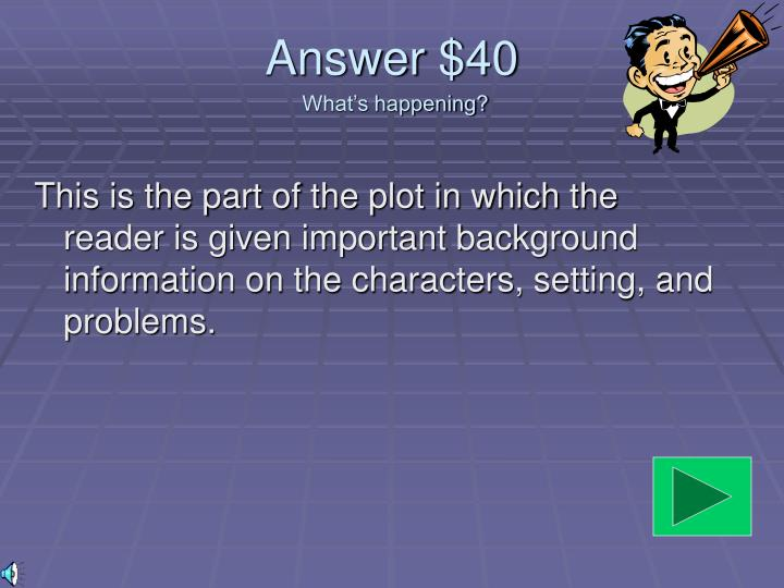 Answer $40