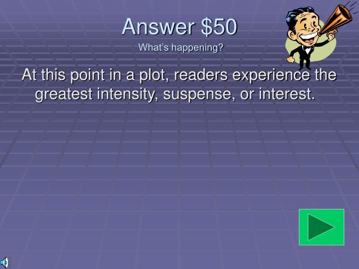 Answer $50
