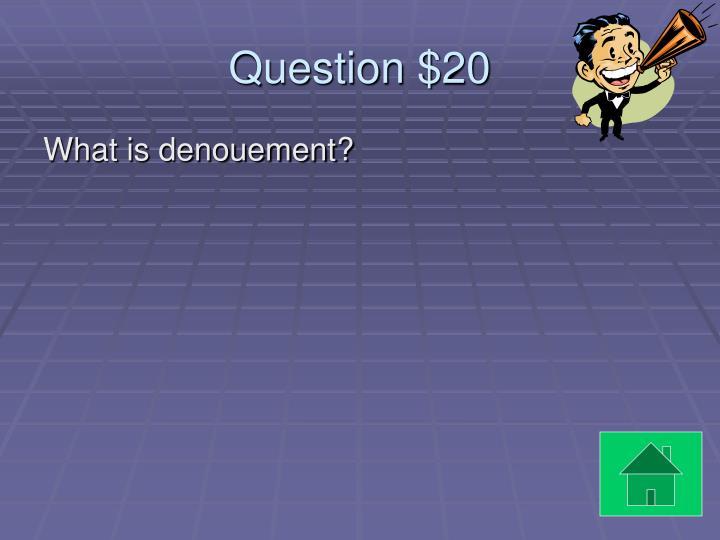 Question $20