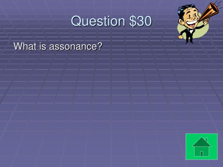 Question $30