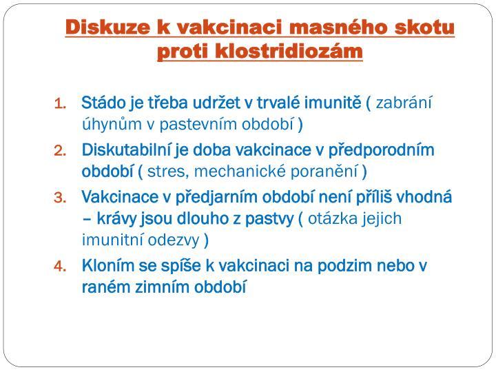 Diskuze k vakcinaci masného skotu proti