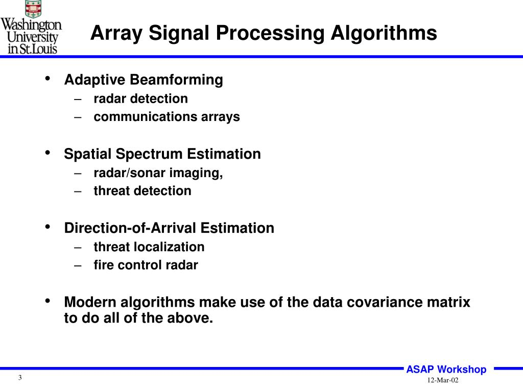 PPT - Statistical Signal Processing Algorithms for Time
