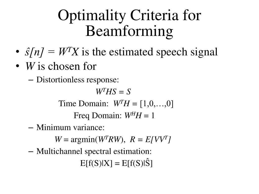 PPT - Dealing with Acoustic Noise Part 2: Beamforming PowerPoint
