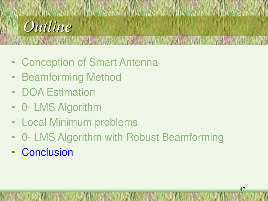 PPT - Analysis for Adaptive DOA Estimation with Robust Beamforming