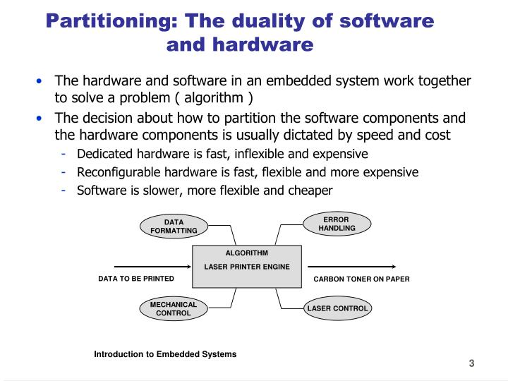 Partitioning the duality of software and hardware