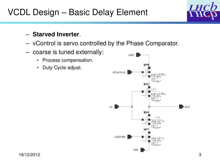 VCDL Design – Basic Delay Element