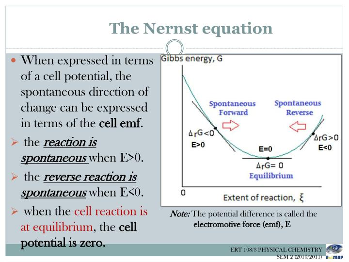 The Nernst equation