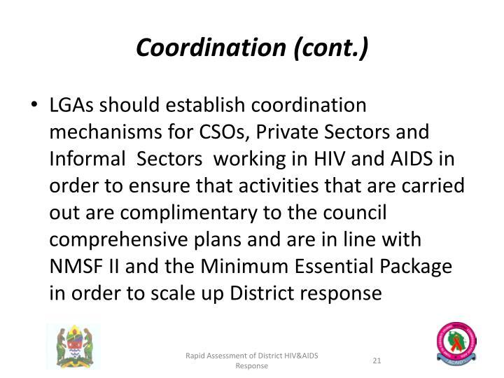 Coordination (cont.)