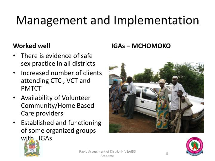 Management and Implementation