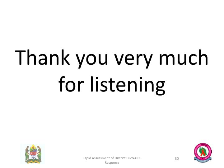 Thank you very much for listening
