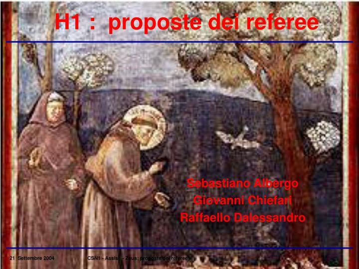 H1 :  proposte dei referee