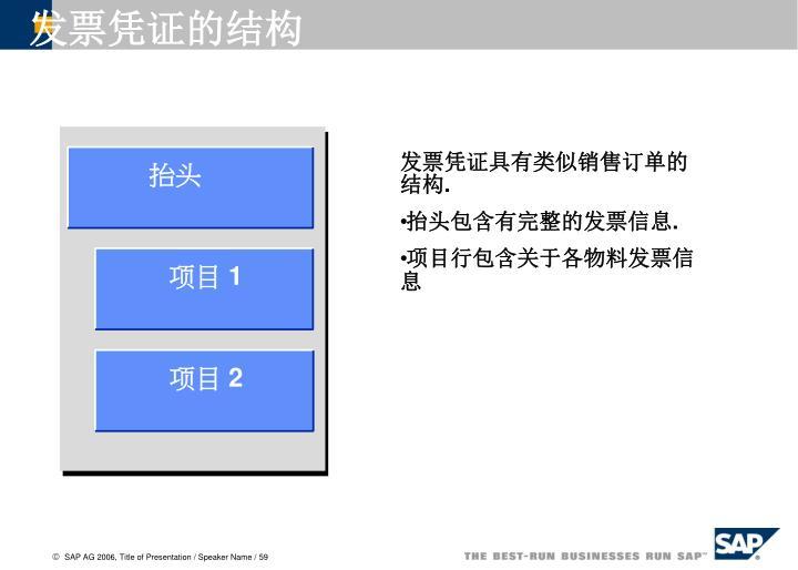 发票凭证的结构