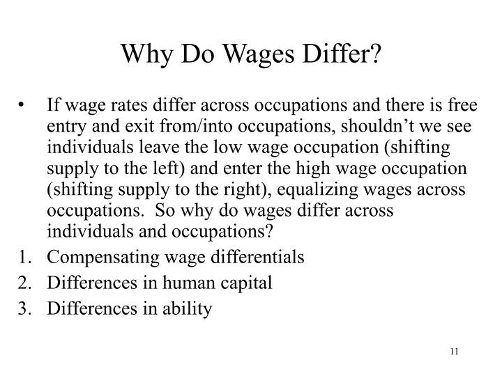 Why Do Wages Differ?