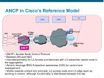 ancp in cisco s reference model