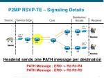 p2mp rsvp te signaling details