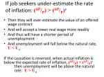 if job seekers under estimate the rate of inflation d p p d p p e