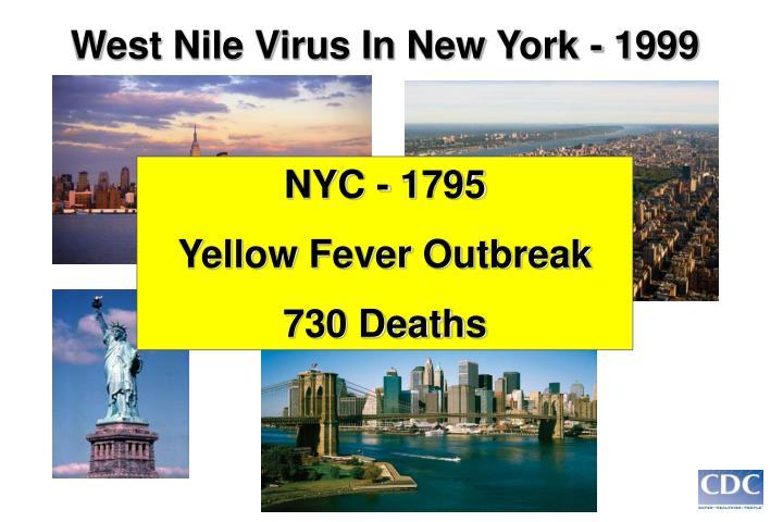 West Nile Virus In New York - 1999