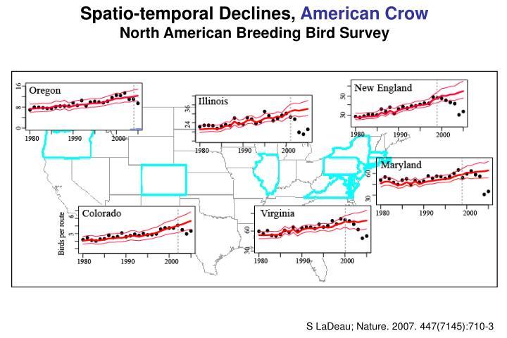 Spatio-temporal Declines,