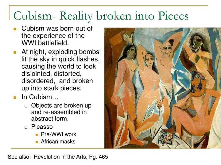 Cubism- Reality broken into Pieces