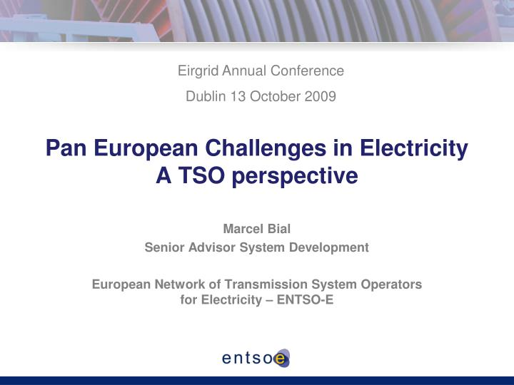 pan european challenges in electricity a tso perspective n.