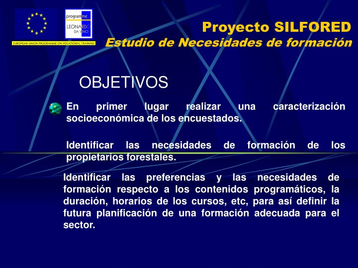Proyecto SILFORED