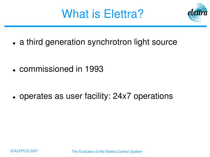 What is elettra
