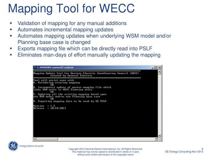 Mapping Tool for WECC