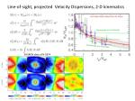 line of sight projected velocity dispersions 2 d kinematics