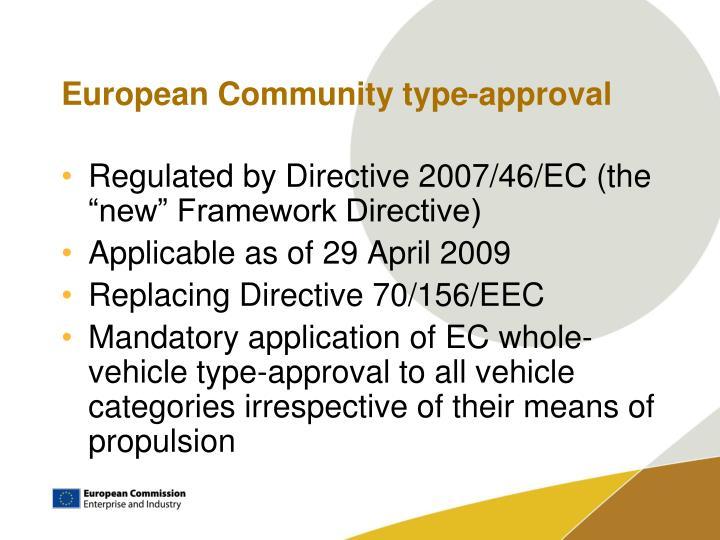 European community type approval
