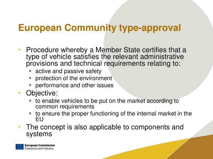 European community type approval1