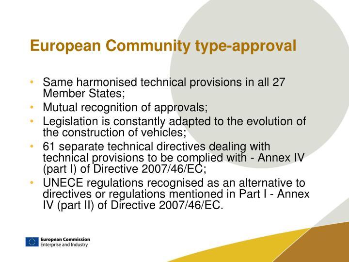 European Community type-approval