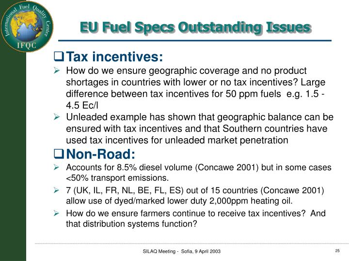 Tax incentives:
