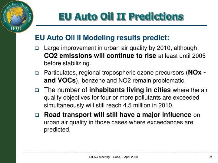 EU Auto Oil II Predictions