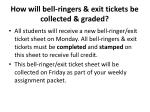 how will bell ringers exit tickets be collected graded