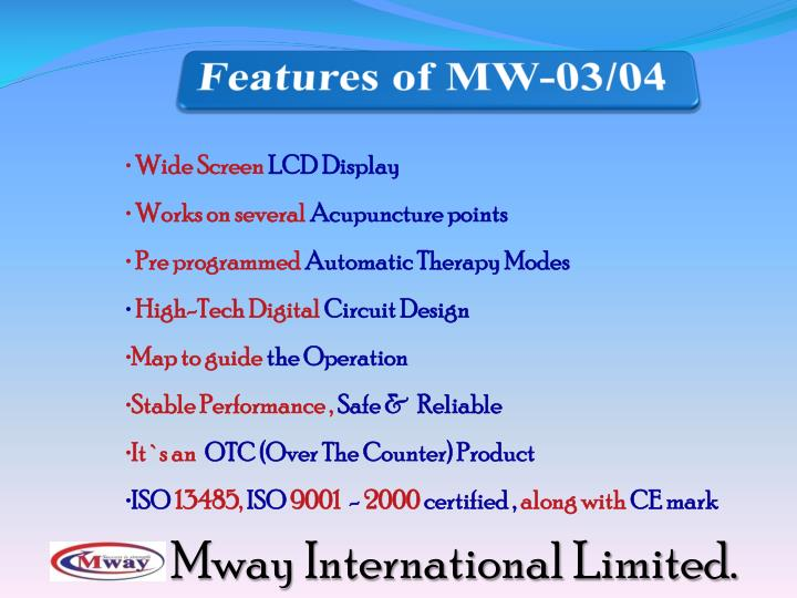 Features of MW-03/04