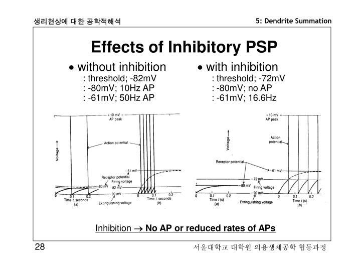 Effects of Inhibitory PSP