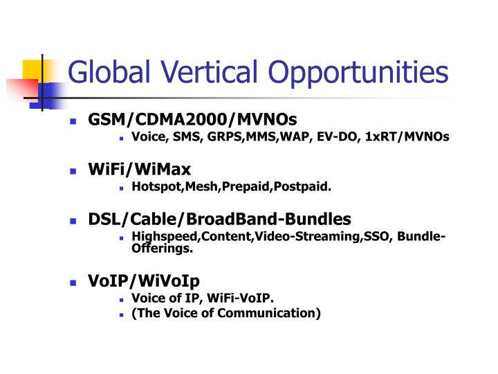Global Vertical Opportunities