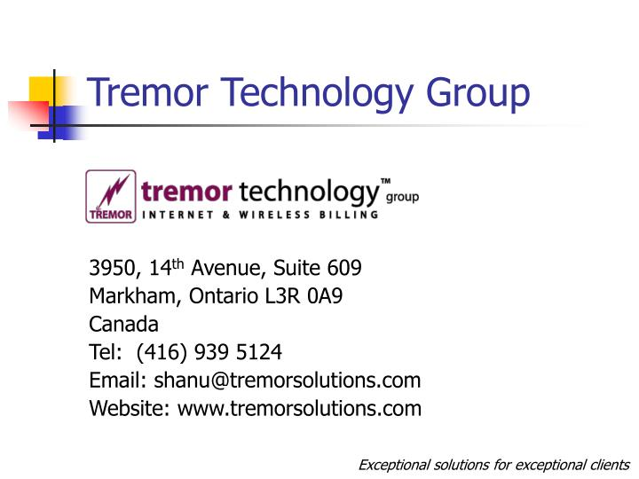 Tremor Technology Group